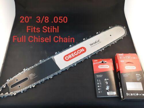 "20/"" Oregon STIHL MS 391 MS391 Versacut Bar Chisel Chain Chainsaw 3//8 .050"