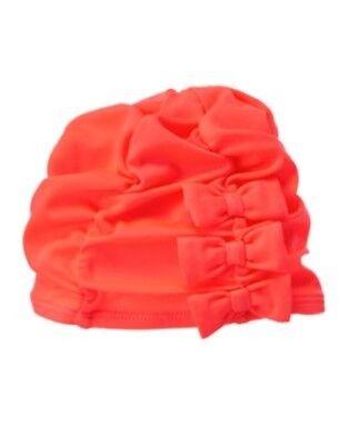 GYMBOREE SWIM SHOP PINK RUFFLE TULLE SWIM CAP 6 12 24 2T 3T 4T 5T NWT