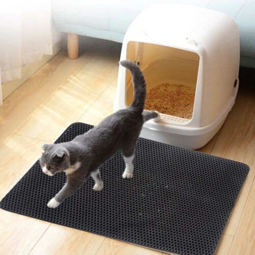 Double Layer Cat Litter Box Litter Mat Trapper Foldable Pad Pet Rug EVA Foam F2