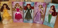 Disney Aurora Ariel Belle Merida Rapunzel 2014 Classic Doll Set Puppe NRFB