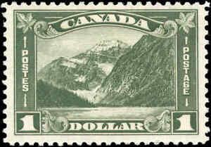 Mint-H-Canada-1930-F-VF-Scott-177-1-00-King-George-V-Arch-Leaf-Stamp