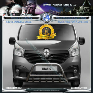 Details about RENAULT TRAFIC BULL BAR CHROME AXLE NUDGE A-BAR 60mm RUST  FREE 2015-2018 NEW