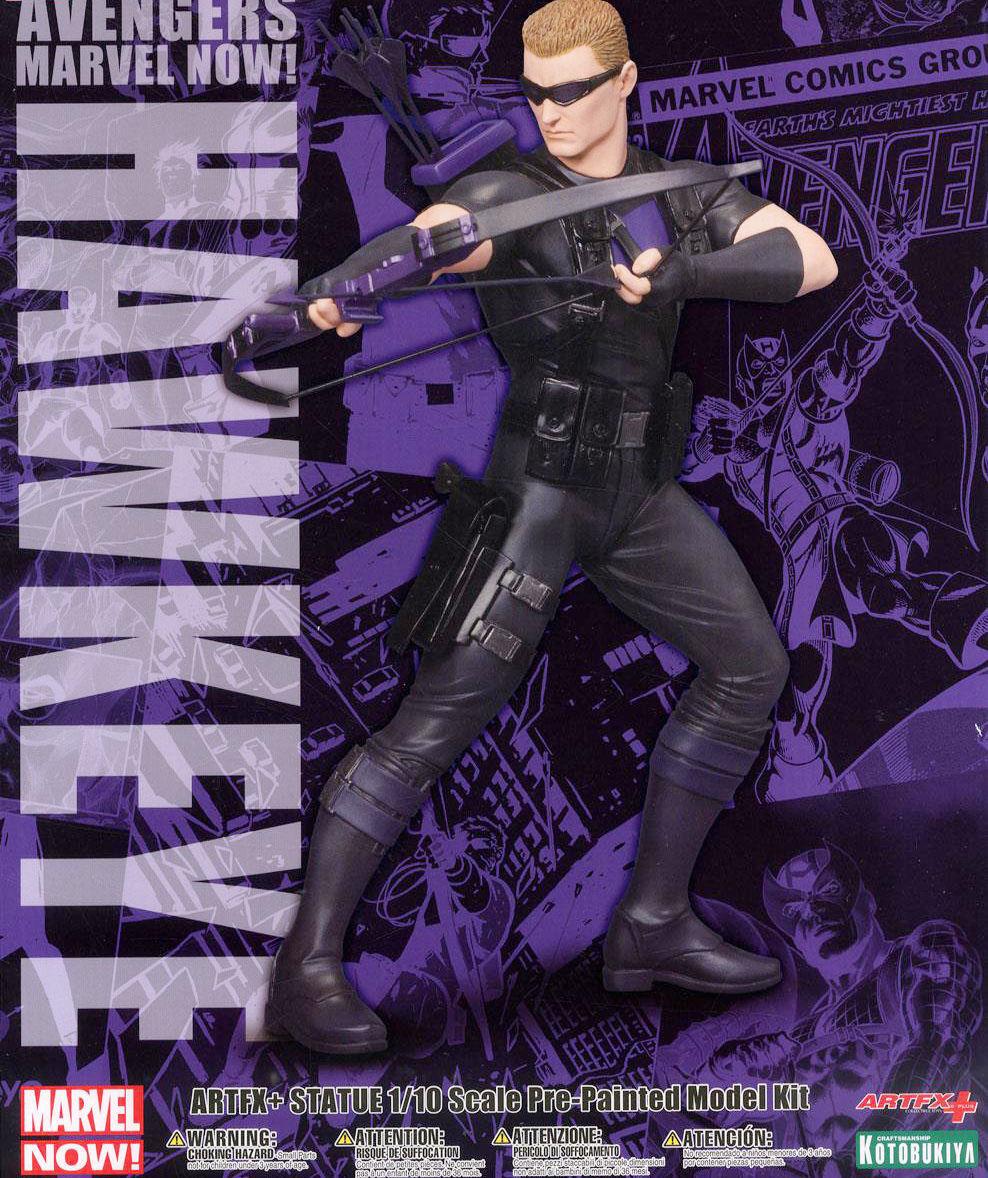 MARVEL Kotobukiya HAWKEYE Avengers Now ARTFX+ Statue Figure Eye di Falco