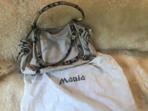 Tote Italy In Tan Handtasche Satchel Leder amp; Made Mania Creme xz8qAqX