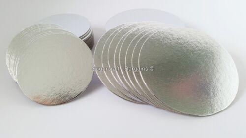"20 x 4/"" round fine cut edge silver cake cupcake planches cartes sugarcraft culpitt"