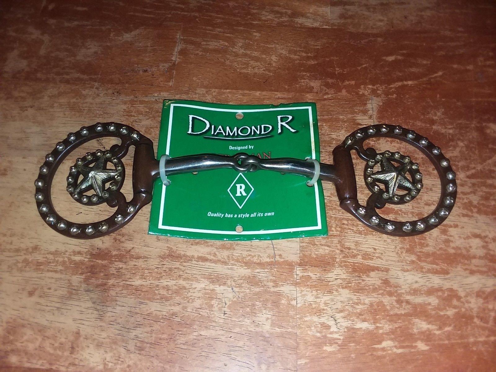 GORGEOUS Reinsman Diamond R DR 036 braunes Eisen f dee snaffle western bit, 5