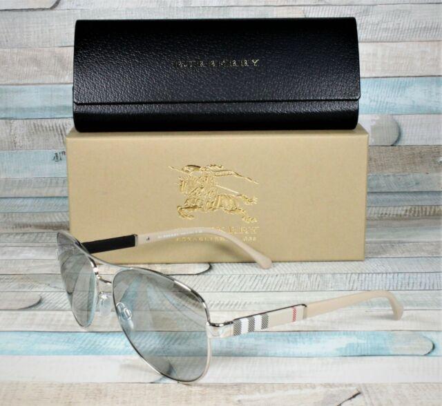 Burberry BE3080-10056V SILVER light grey mirror grad 59 mm Women's Sunglasses