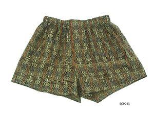 Silk-Mix-Boxer-Shorts-Men-Underwear-Underpants-Soft-Briefs-Trunk-Black-M-L-XL