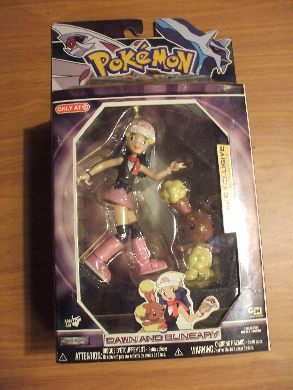 Pokemon Diamond And Pearl Trainer Action Figure Toy Set Dawn Buneary Rare htf