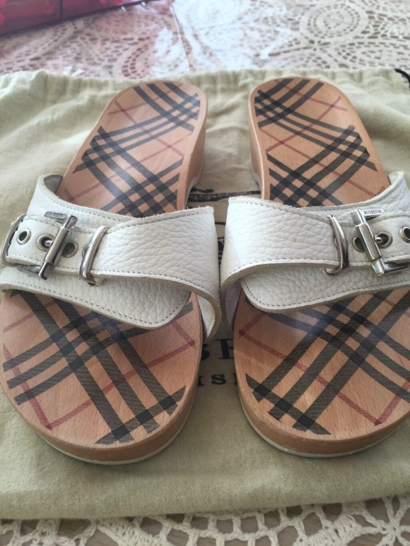 femmes blanc Burberry sandal Taille EU38(US8)