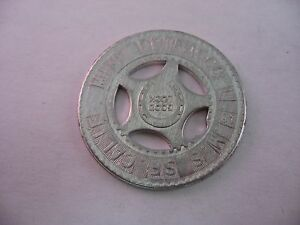 Vintage-Aluminum-GOOD-LUCK-Coin-Token-U-S-M-S-San-Francisco-SF-California