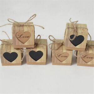 20 50 100x Luxury Heart Wedding Favor Sweet Cake Gift Candy Box Valentine S Day Ebay