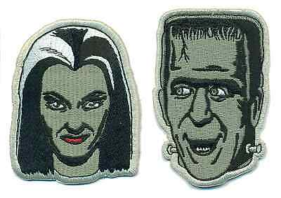 The Munsters Iron-on Patch Frankenstein Addams Family 60s vtg Lilly + Herman