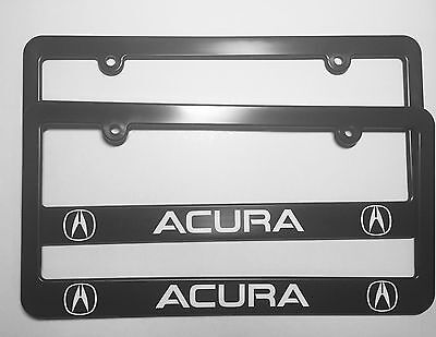 Acura Logo Plastic License Plate Frame Holder With Decals