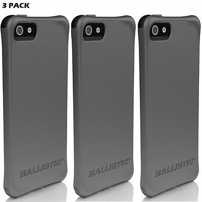 2b3df8196b1578 Details about 3 Pack Ballistic LS-0955-M141 Smooth Series Grey Silicone Case  for iPhone 5/5S