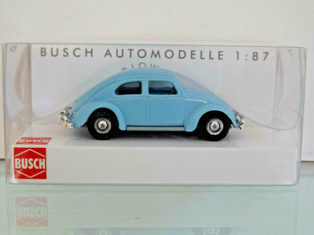 Busch 42724 Vw Beetle With Oval Window Blue Car Model 187 H0