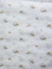 Küchentapete Papier Tapete Landhaus 6350-1 Streublümchen weiß gelb rot Blümchen