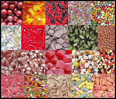 1KG SWEETS - WHOLESALE RETRO TRADITIONAL UK PICK & MIX SWEETS CHOCOLATE JELLY...