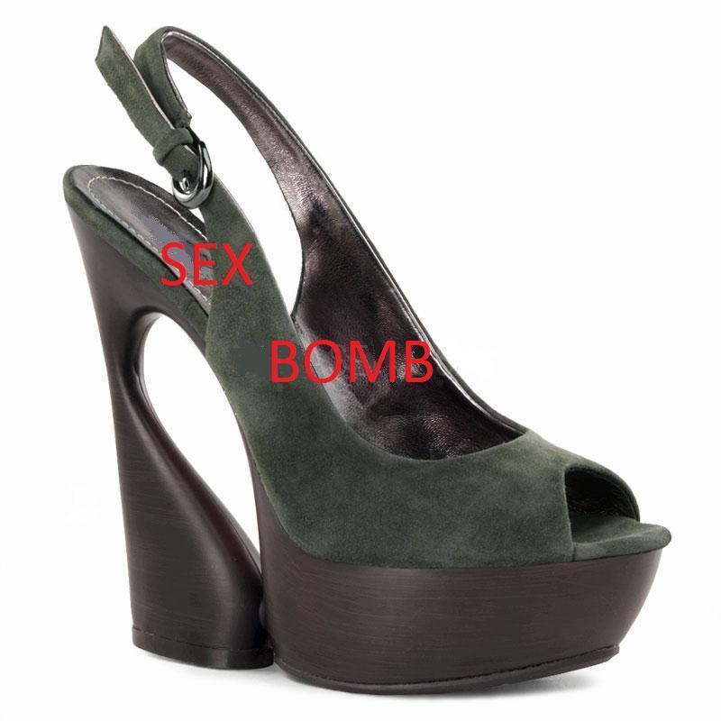 SEXY sandali VERDE OLIVA cinturino PELLE tacco 15  dal 34 al 40 fashion GLAMOUR