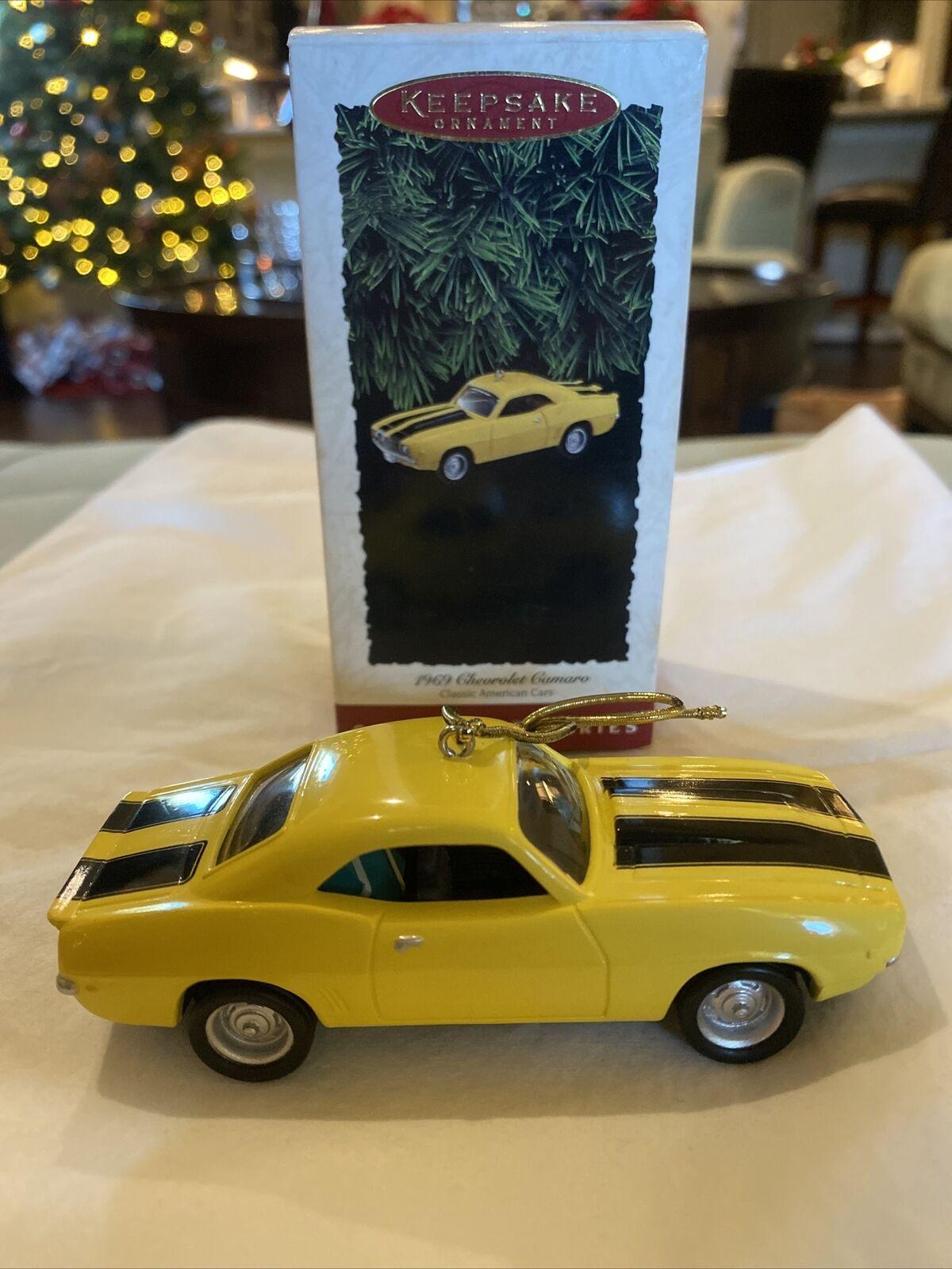 1995 1969 Chevrolet Camaro Hallmark Ornament Yellow Classic American Cars #5