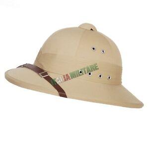 Elmetto Casco Coloniale Inglese da Ufficiale modello PITH Helmet Militare