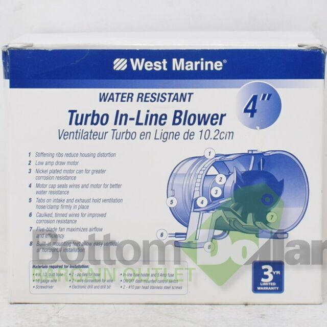 West Marine 4 inch Turbo In-line  Blower Model 13855036