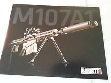 Barrett M107A1 Firearms Gun Data Sheet / New / Style 2