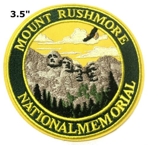 Mount Rushmore National Memorial Patch Iron Sew-On Embroidered Souvenir Travel