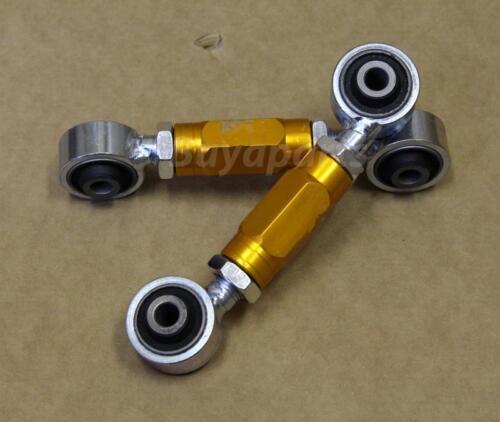1992-1995 Honda Civic EG Gold Heavy Duty Adjustable Aluminum Rear Toe Arm Kit