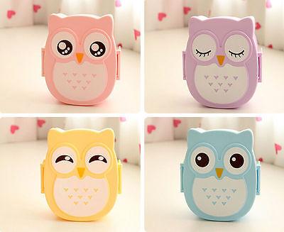 Hot Portable Lunch Box Plastic Cute Cartoon Owl Lunch Box Food Contain Bento Box