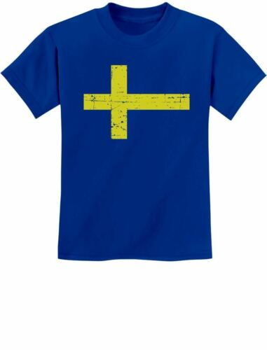 Sweden Flag Vintage Style Retro Swedish Youth Kids T-Shirt Gift Idea