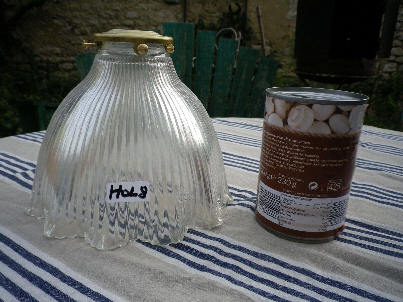 Vintage holophane Light Shade. Prismatic glass, Loft, Industrial, Deco, ribbed.8