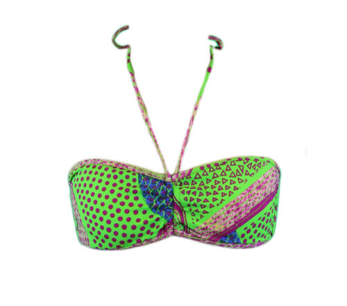 BANTU Women/'s Green Multi-Color Bandeau Bikini Top $104.99 NEW