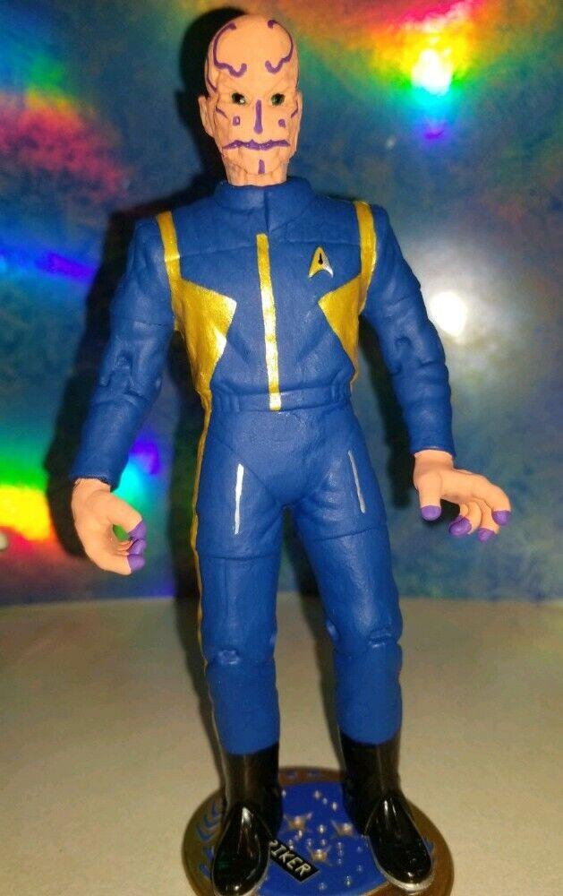 Descubrimiento de Estrella Trek acción capitán  Saru  hecho a pedido personalizado de figuras de acción