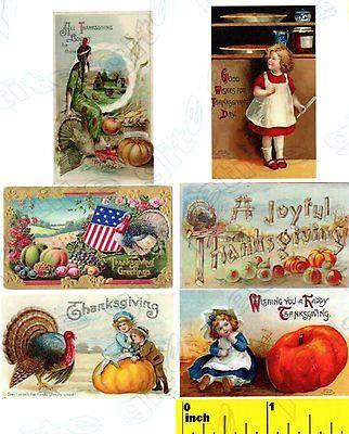 Dollhouse  1:12 scale Miniture Thanksgiving  Pilgrims  Print