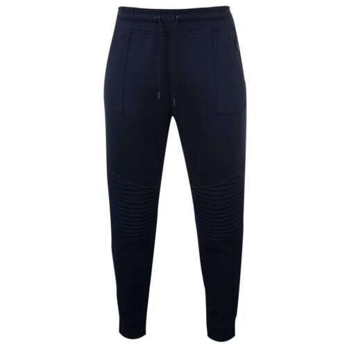 Firetrap Da Uomo Stile Biker Pantaloni sportivi in Pile Jogging Bottoms Pantaloni Pants Zip