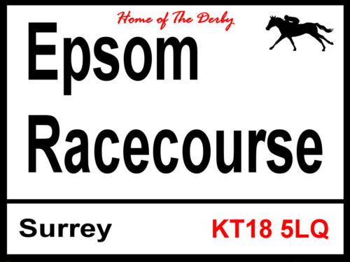2 Sizes Available ideal for bar Epsom Racecourse Sign Man Cave The Derby
