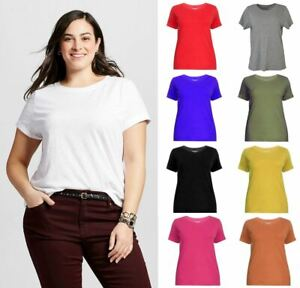 EVANS-Essentials-Womens-Plus-Size-Cotton-Short-Sleeve-T-Shirt