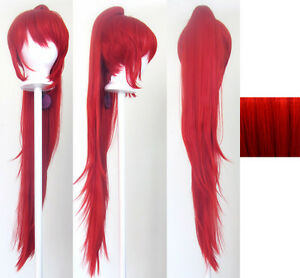 29/'/' Long Curly w// Long Bangs Scarlet Red Cosplay Wig NEW