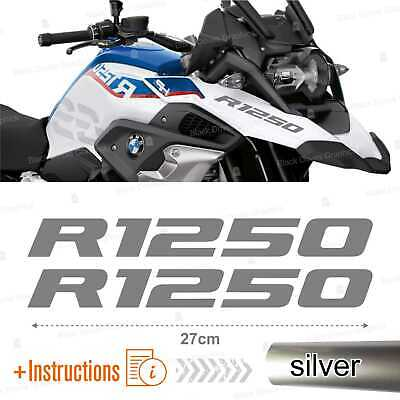 Nero 2pcs Adesivi R1250GS compatibile con BMW R1250 GS R 1250 HP Motorrad 2019 Adventure