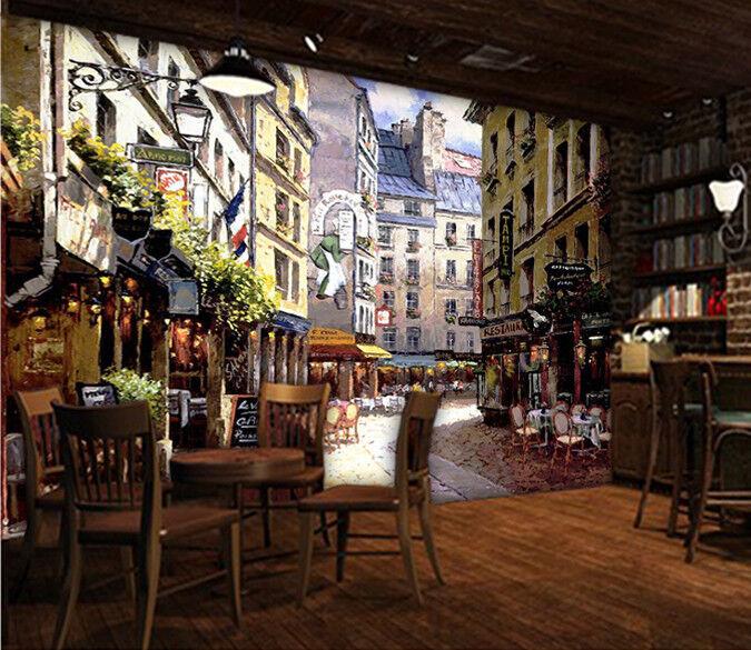 3D Freiluft  Restaurant 84  Tapete Wandgemälde Tapete Tapeten Bild Familie DE