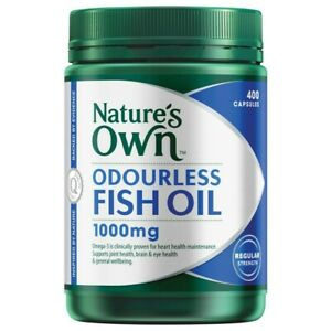 Nature's Own Odourless Fish Oil 1000mg Capsules 400 pack