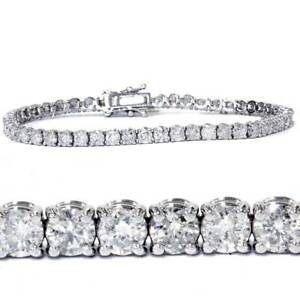 7-00-Ct-Round-HUGE-Natural-Diamond-Tennis-Bracelet-14K-White-Gold
