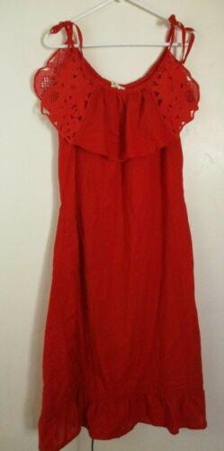Maxi cotton Dress cut out detail MEXICO women's L