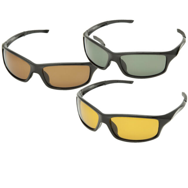 Snowbee Sports Polarised Sunglasses 18084-1 Hi-Gloss Black with Smoke Lens