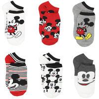 Mickey Mouse Teen Adult 6 Pack Socks 9679fh Disney (big Girls/womens)