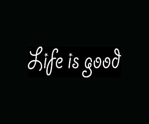 LIFE-IS-GOOD-Sticker-Cute-Family-Car-Window-Vinyl-Decal-Love-God-Happy-Fun-Gift