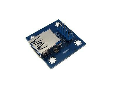 USB 3.0 Type A Female Breakout Board Module 8-Pin 2.54mm Header