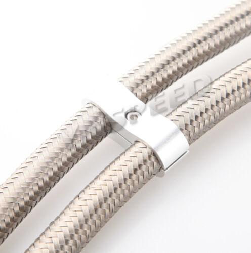AN3 AN4 6 AN 8 10AN 12 Braided Hose Tube Separator Clamp Fitting Adapter Bracket