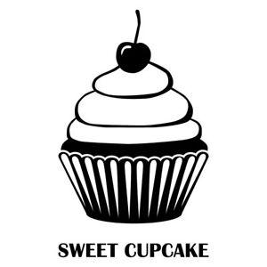 Cupcake Aufkleber Sticker Deko Muffin Kuche Fliesen Spiegel Laptop